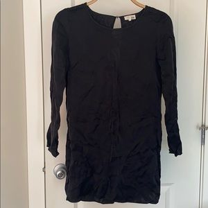 Aritzia Wilfred Cupro Long Sleeve Dress